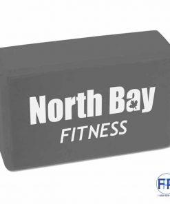 Yoga training block black fitness promotional products