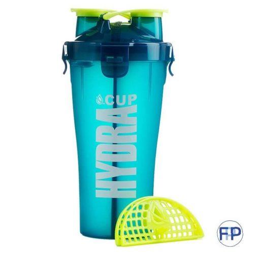 double lid shaker bottle