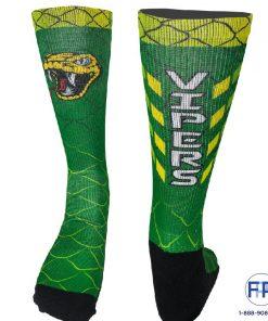 dye sublimated custom logo socks