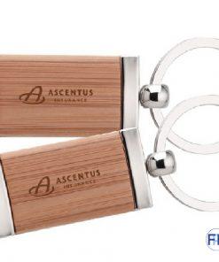 bamboo key chain