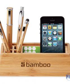 recycled bamboo desktop organizer