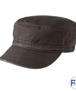 Black-military-style-cotton-cap-for-logo