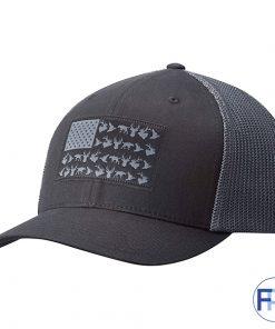 Dark Navy custom twill meshback trucker hat with patch