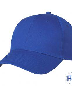 Royal blue color velcro adjustable strap 6 panel hat