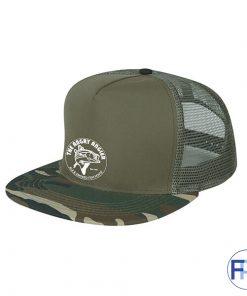 camo flatbill cap for promotional logo