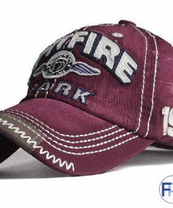 contrasting stitching on baseball hat
