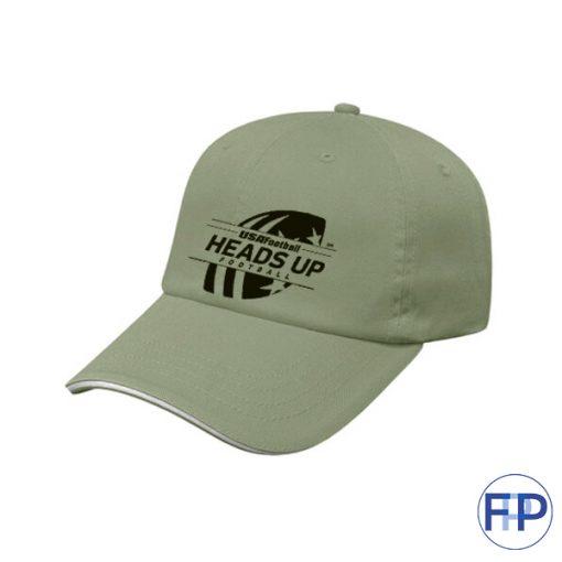 sandwich-brim-unstructured-brushed-Sage-cotton-6-panel-hat