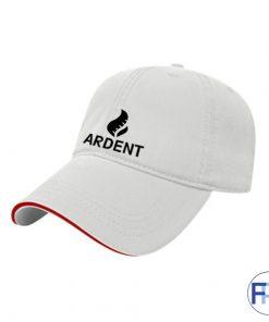 sandwich-brim-unstructured-brushed-White-cotton-6-panel-hat